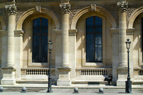 Finding solitude at the Louvre, a quiet corner