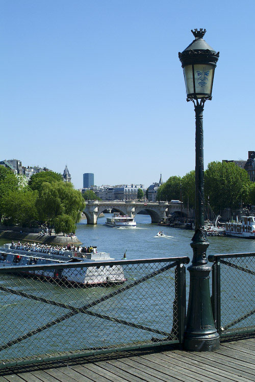 View of Seine from Pont des Arts, Paris