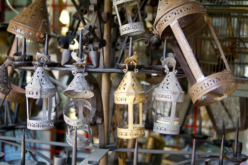 Hanging lanterns and lamps