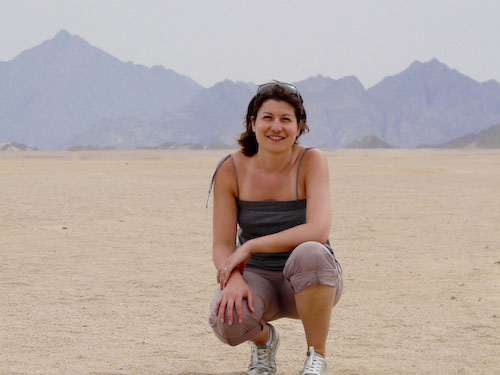 Aude in the desert