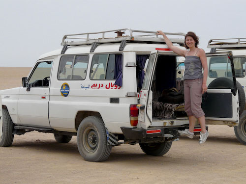 Aude on Landcruiser