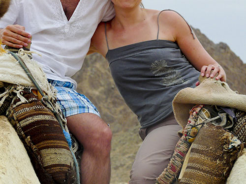 Aude, Matt and a camel