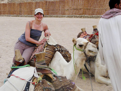 Aude with a camel