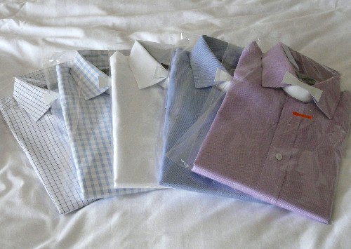 Shirts with cardboard bowties