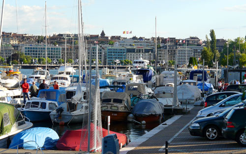 Boats in Geneva harbour