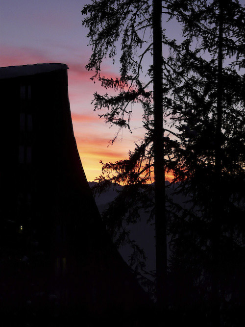 Sunset in Les Arcs