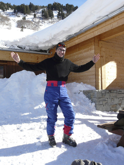 Matt in ski pants