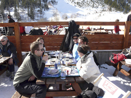 Lunch on the piste