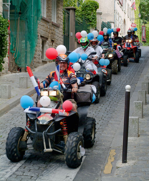 Bastille Day parade with ATVs