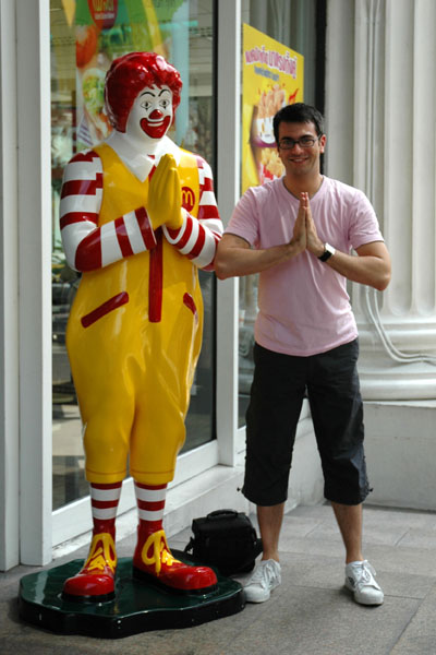 Matt and Ronald McDonald