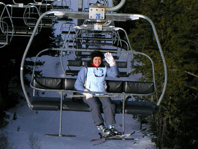 Aude on lift