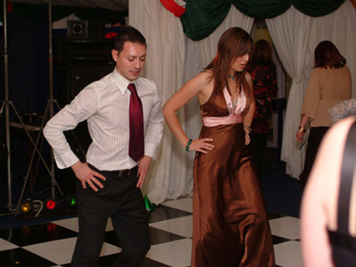 Gino, burning up the dance floor!
