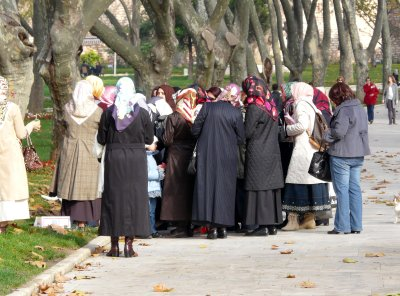 A group of Muslim women visiting the Topkapi Palace