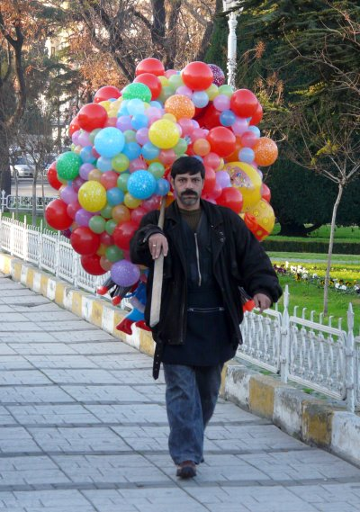 A balloon seller