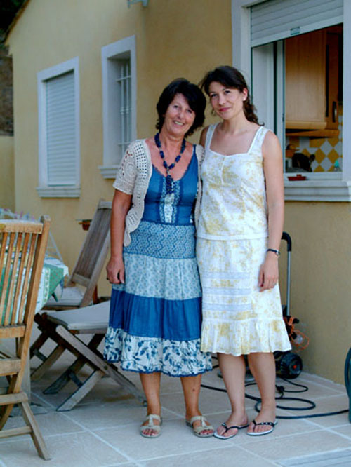 Aude and her mother