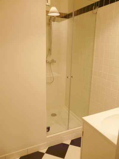 A real, proper shower.  I can't deal with the French hand-held ones...
