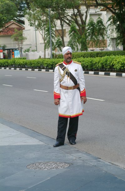 The famous Raffles doorman