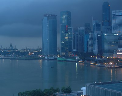 Stormy skies over Singapore