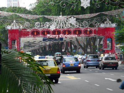 Christmas decorations along Orchard Road in Singapore