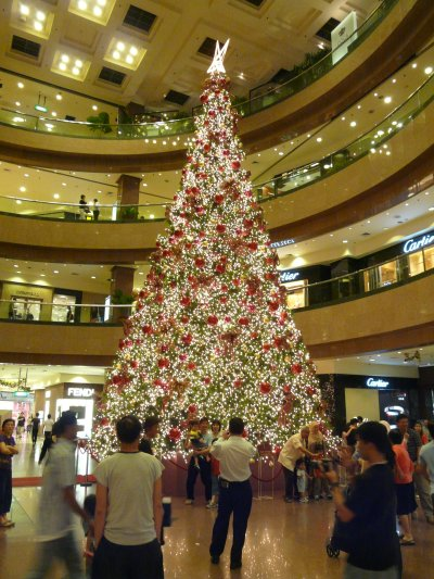 A pretty impressive tree at the Takashimaya shopping centre in Singapore