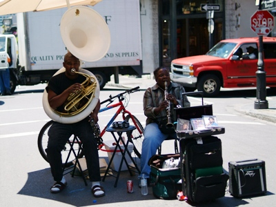 A little jazz on the corner of rue Royal