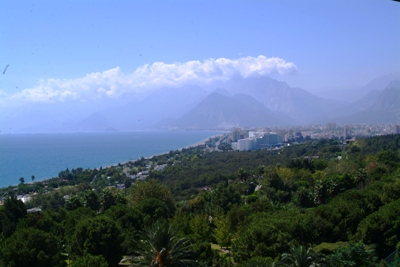 The view from our hotel room at the Sheraton Voyager Antalya