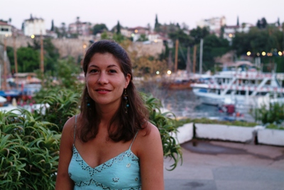 Aude at the old harbour in Antalya